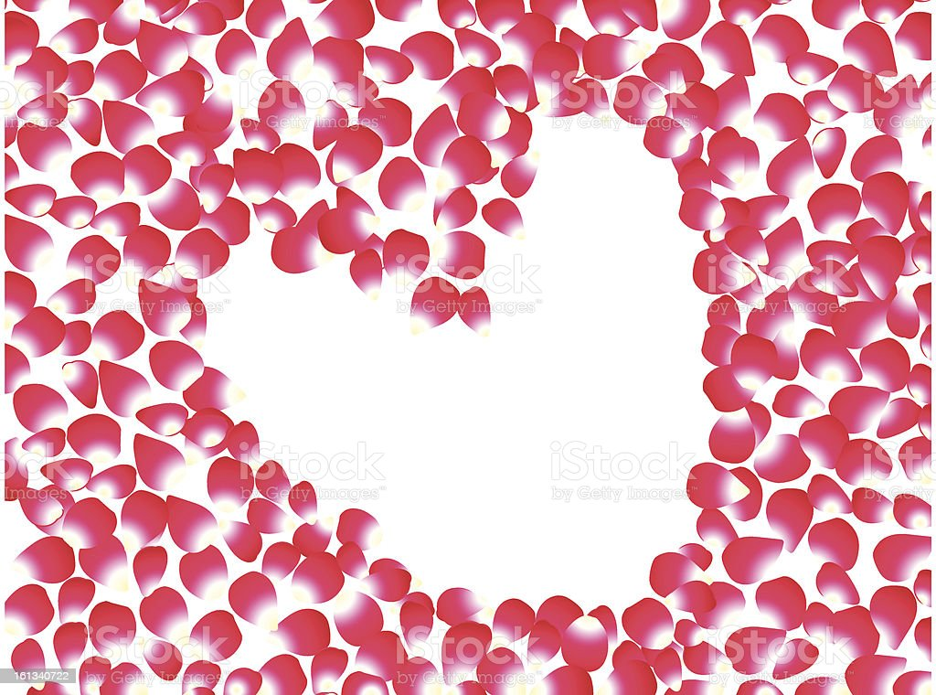 abstract rose based heart royalty-free stock vector art