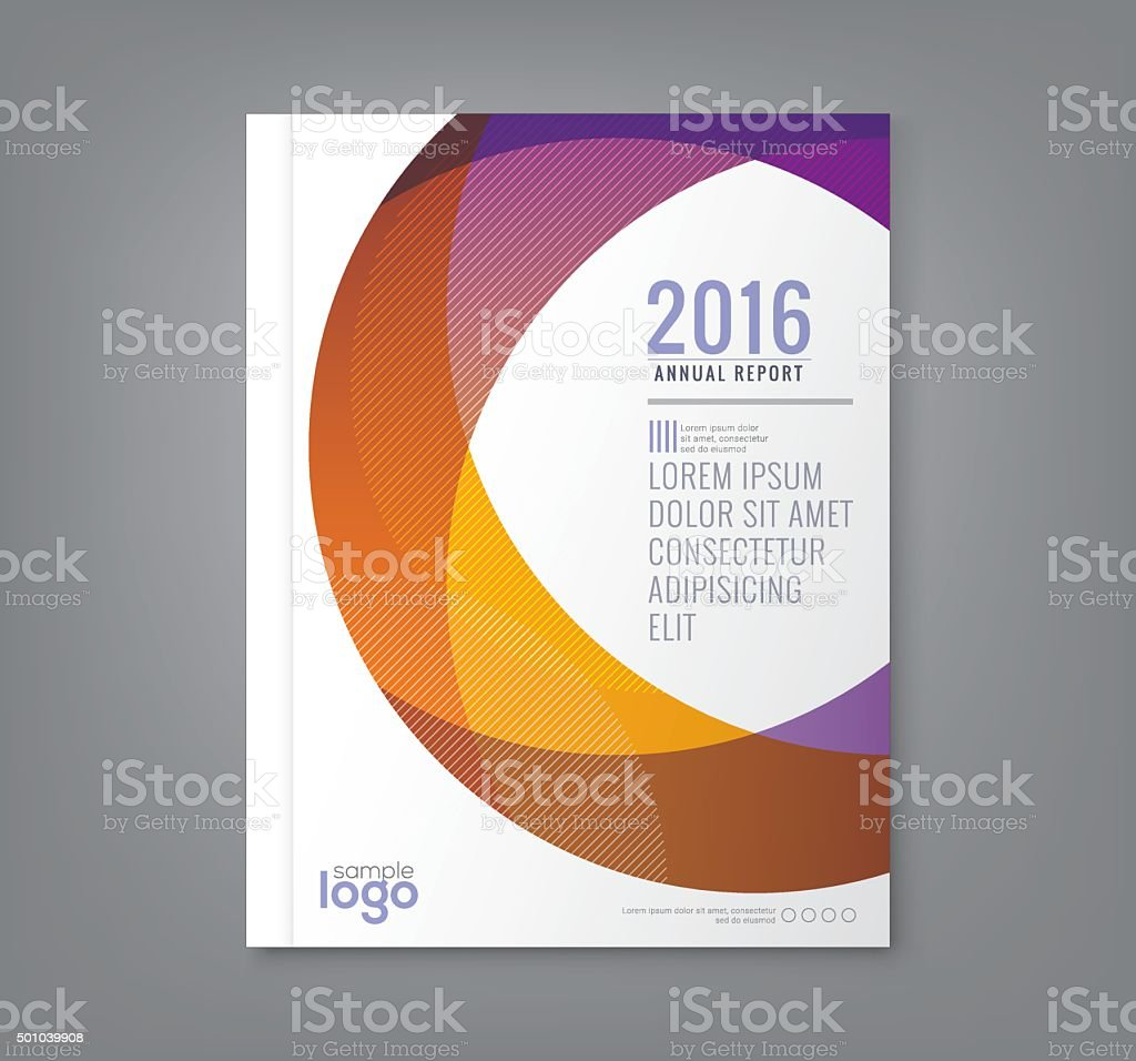 Abstract round circle shapes background for business annual report cover vector art illustration