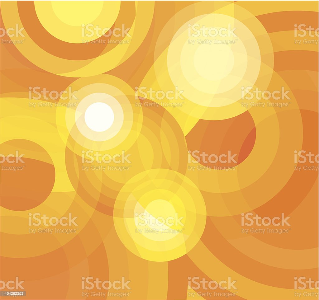 Abstract Rounded Background vector art illustration