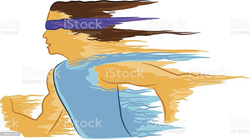 Abstract Runner vector art illustration