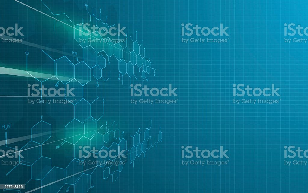 abstract science technology innovation education design concept background vector art illustration