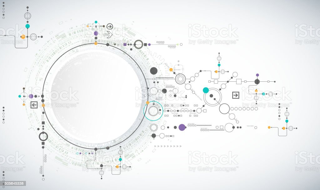 Abstract scientific technology background vector art illustration
