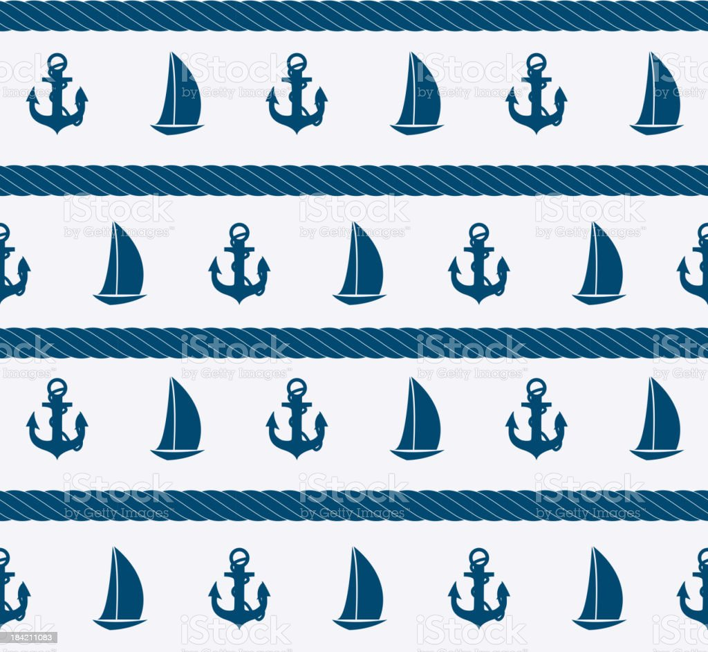 Abstract sea seamless pattern background. Vector illustration royalty-free stock vector art