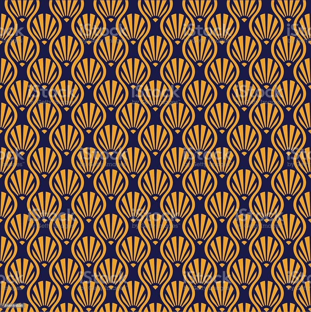 Abstract Seamless Art Deco Vector Pattern vector art illustration