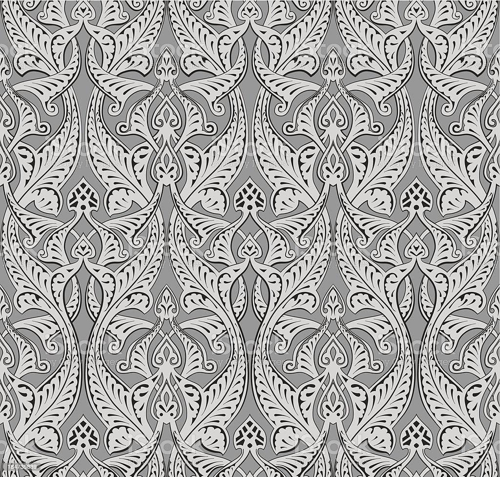 Abstract seamless art nouveau pattern royalty-free stock vector art