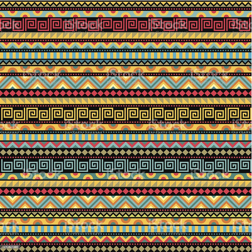 Abstract Seamless Ethnic Pattern vector art illustration