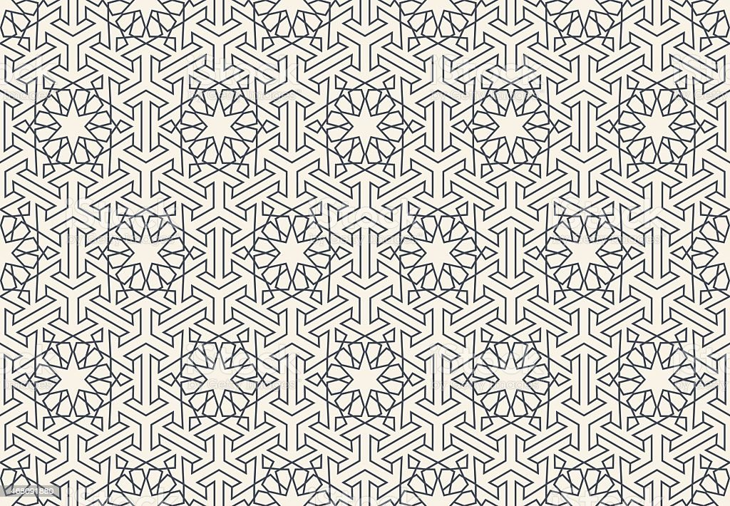 Abstract seamless geometric islamic wallpaper pattern vector art illustration