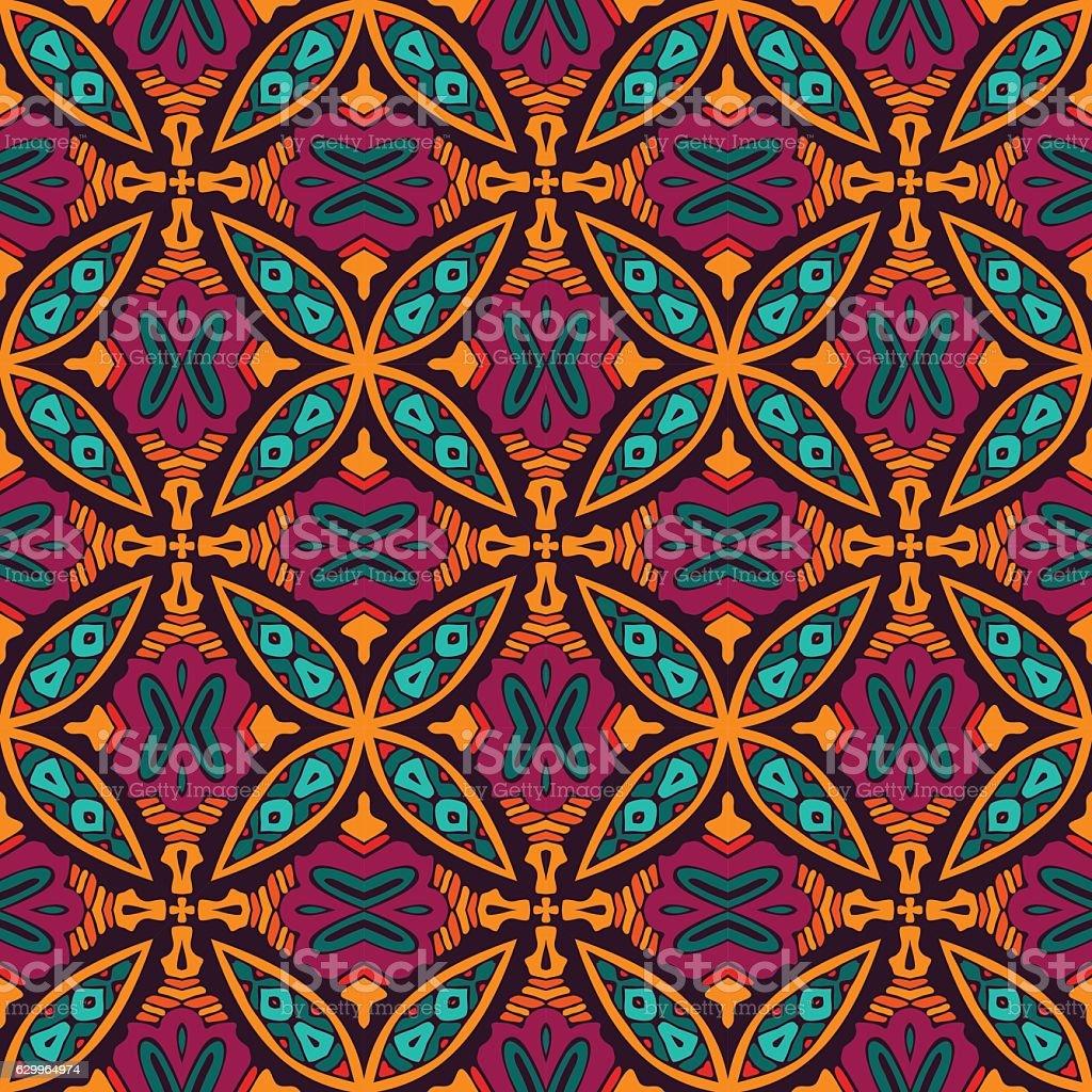 Abstract seamless ornamental vector pattern vector art illustration