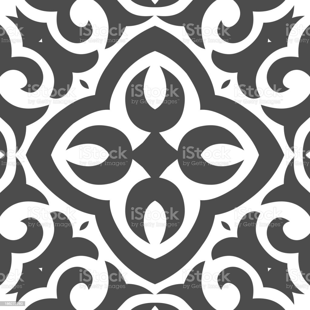 Abstract Seamless Pattern in Mehndi Style royalty-free stock vector art
