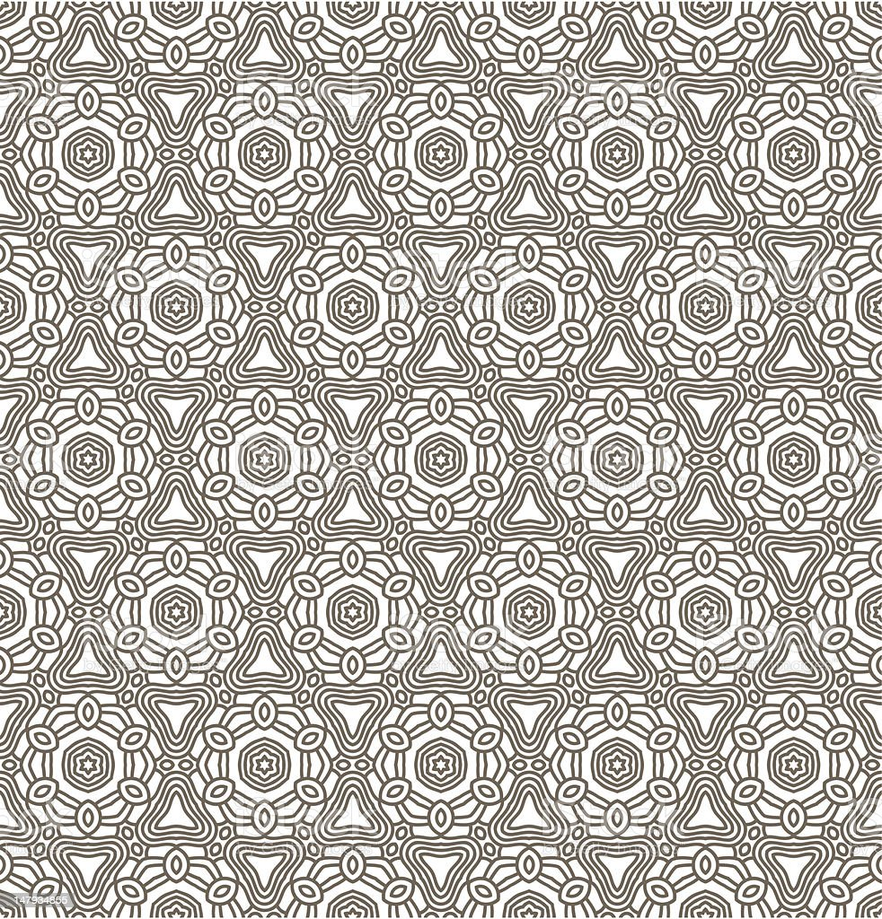 Abstract seamless pattern of Aztec-looking shapes royalty-free stock vector art