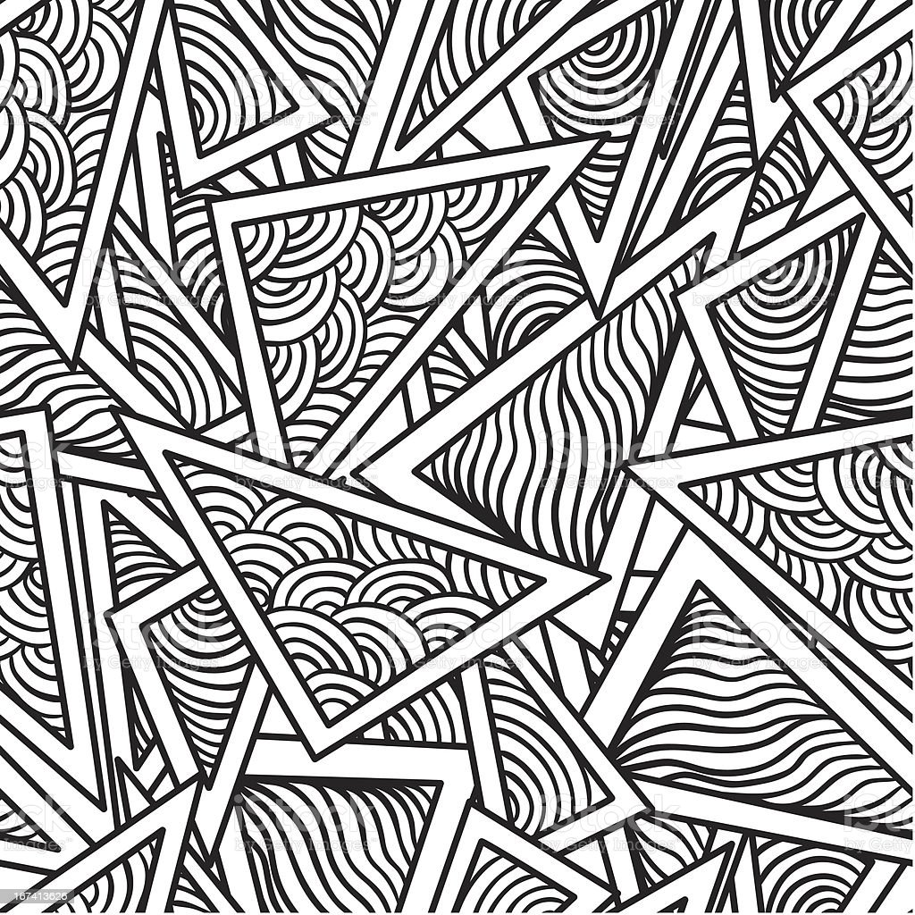 abstract seamless pattern of geometric figures royalty-free stock vector art