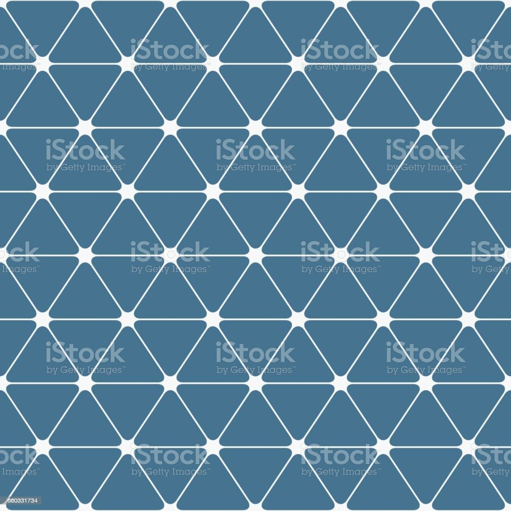 Abstract seamless pattern. Triangles with rounded corners. vector art illustration