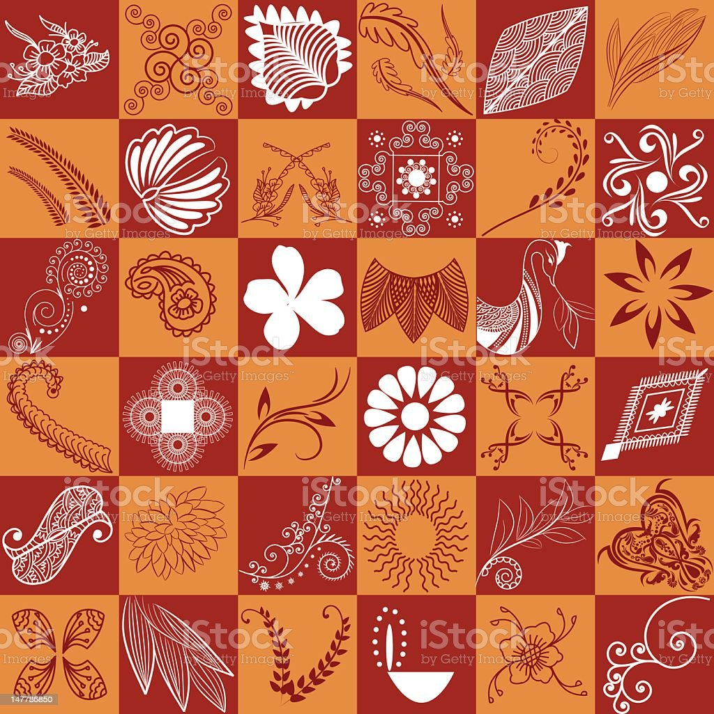 Abstract Seamless Quilt Square Design element stock photo