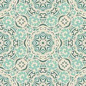 Abstract seamless vintage luxury ornamental vector pattern for fabric.