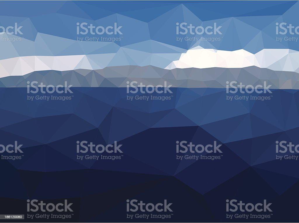 Abstract Seascape vector art illustration