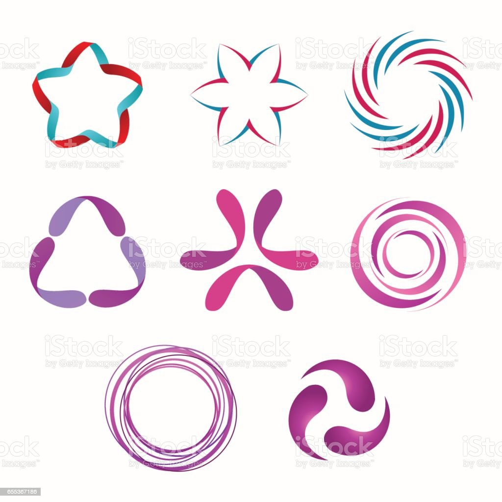 Abstract Shapes vector art illustration