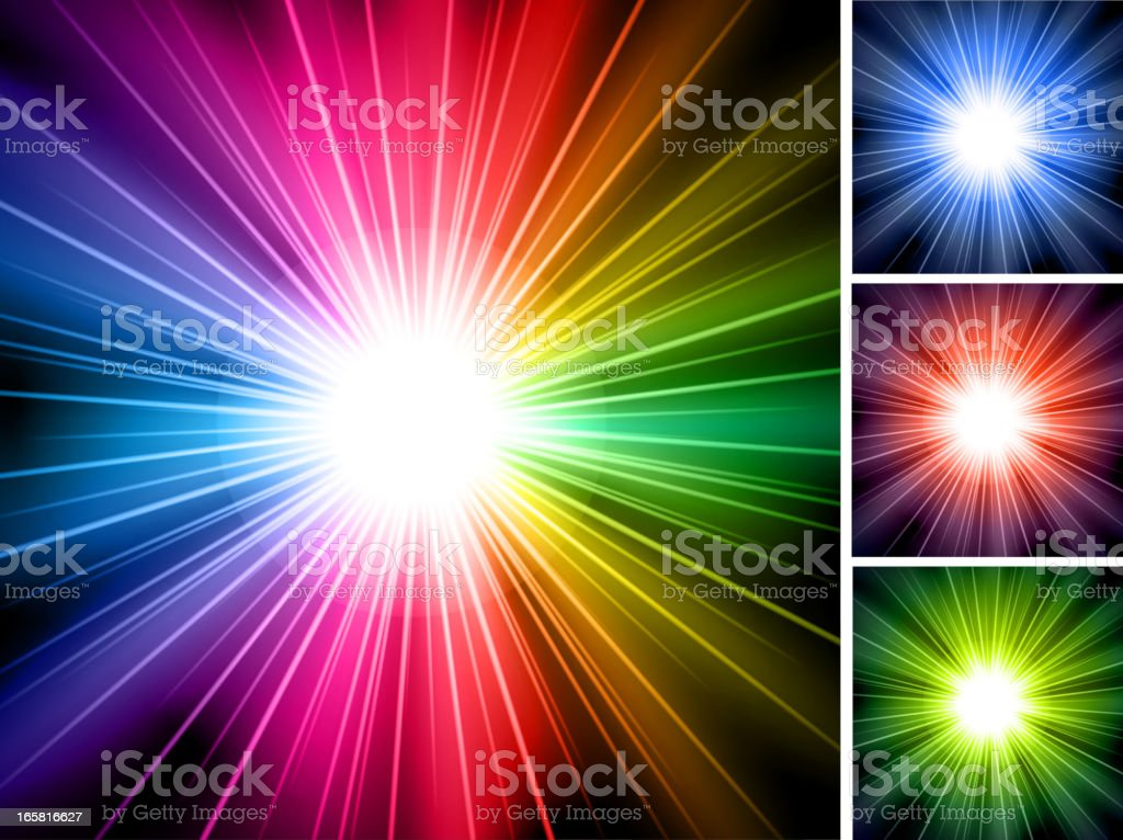abstract Shining Ray lights Background royalty-free stock vector art