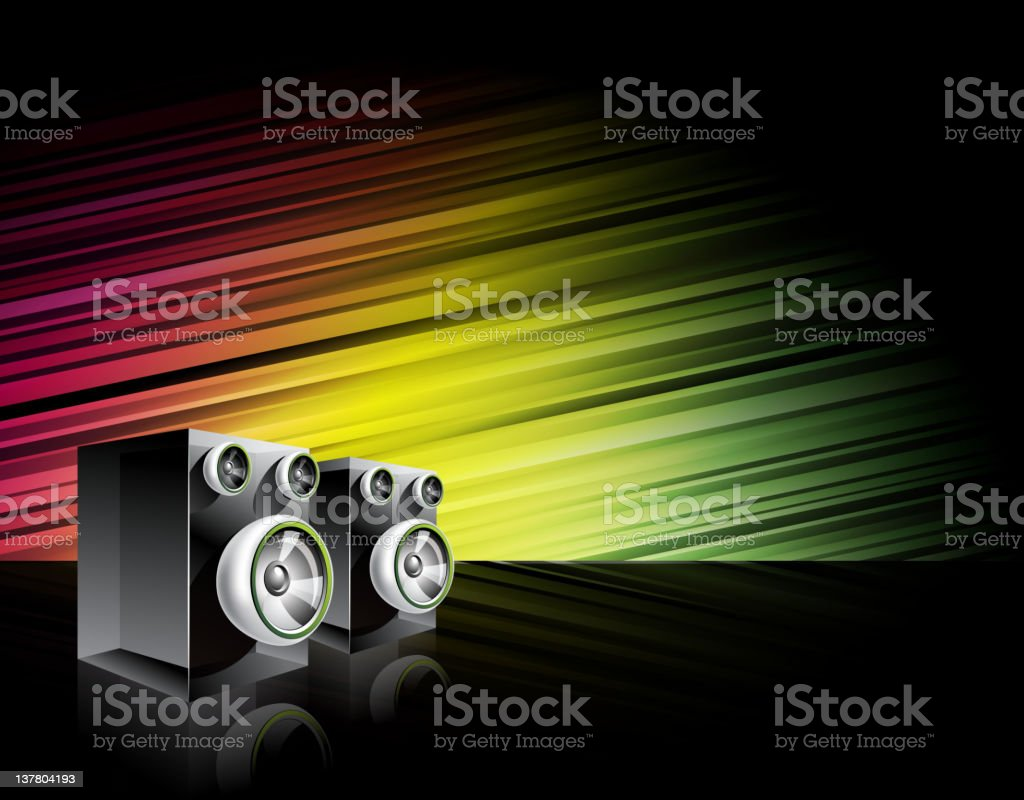 Abstract shiny background with speakers. royalty-free stock vector art