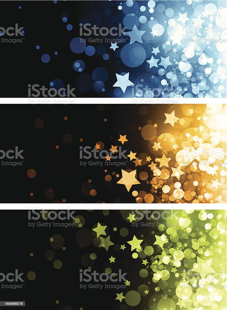 Abstract shiny banners royalty-free stock vector art