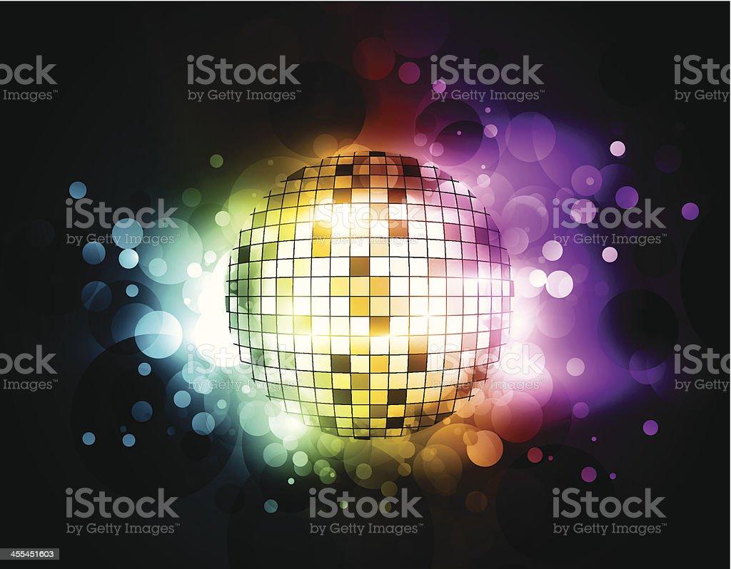 Abstract shiny disco ball royalty-free stock vector art