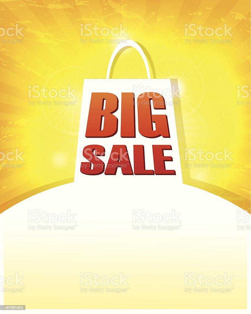 Abstract Shopping Bag royalty-free stock vector art
