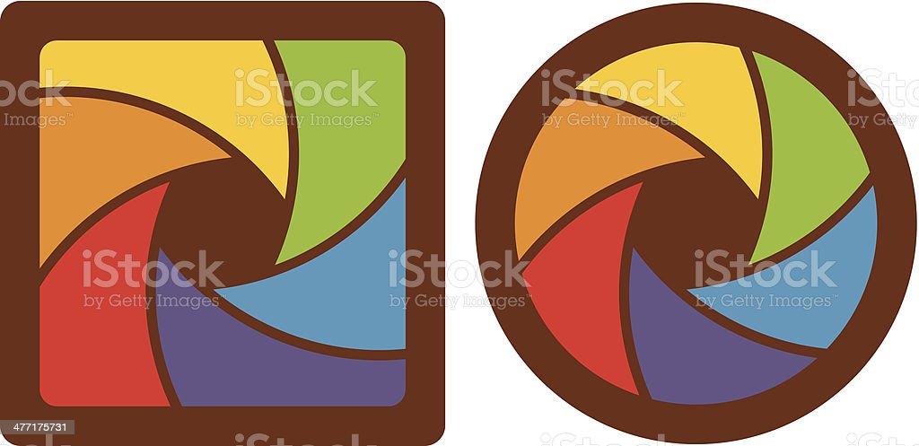 abstract shutter apertures vector art illustration