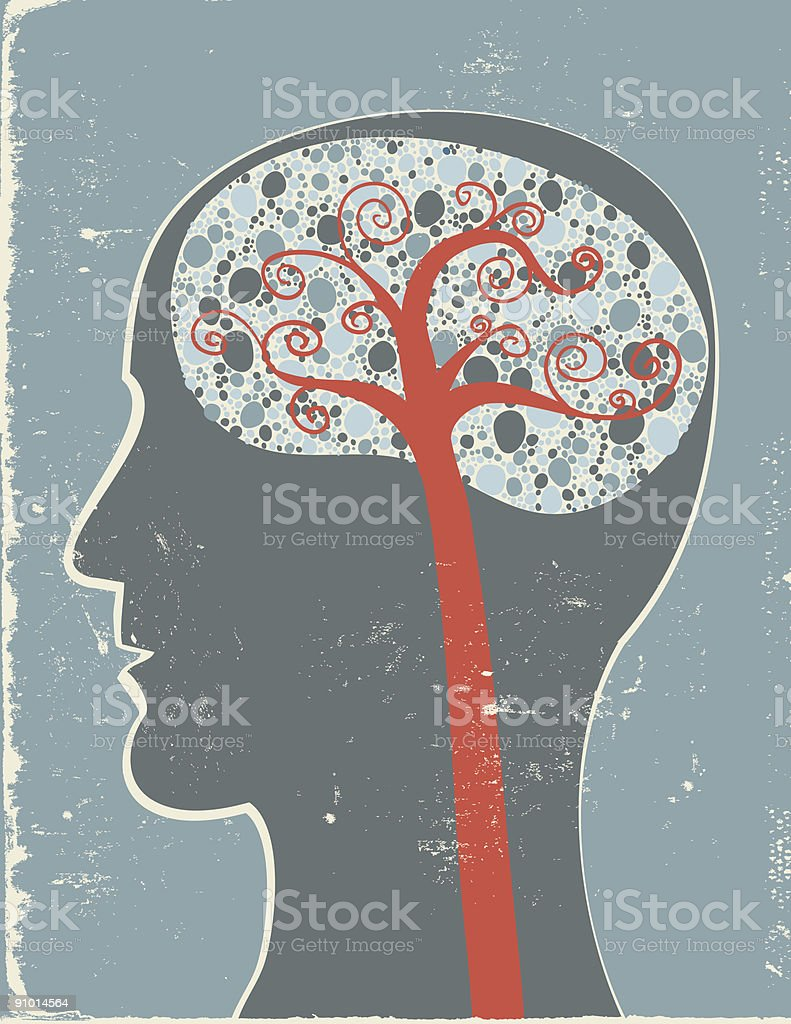 Abstract side view of the brain. royalty-free stock vector art