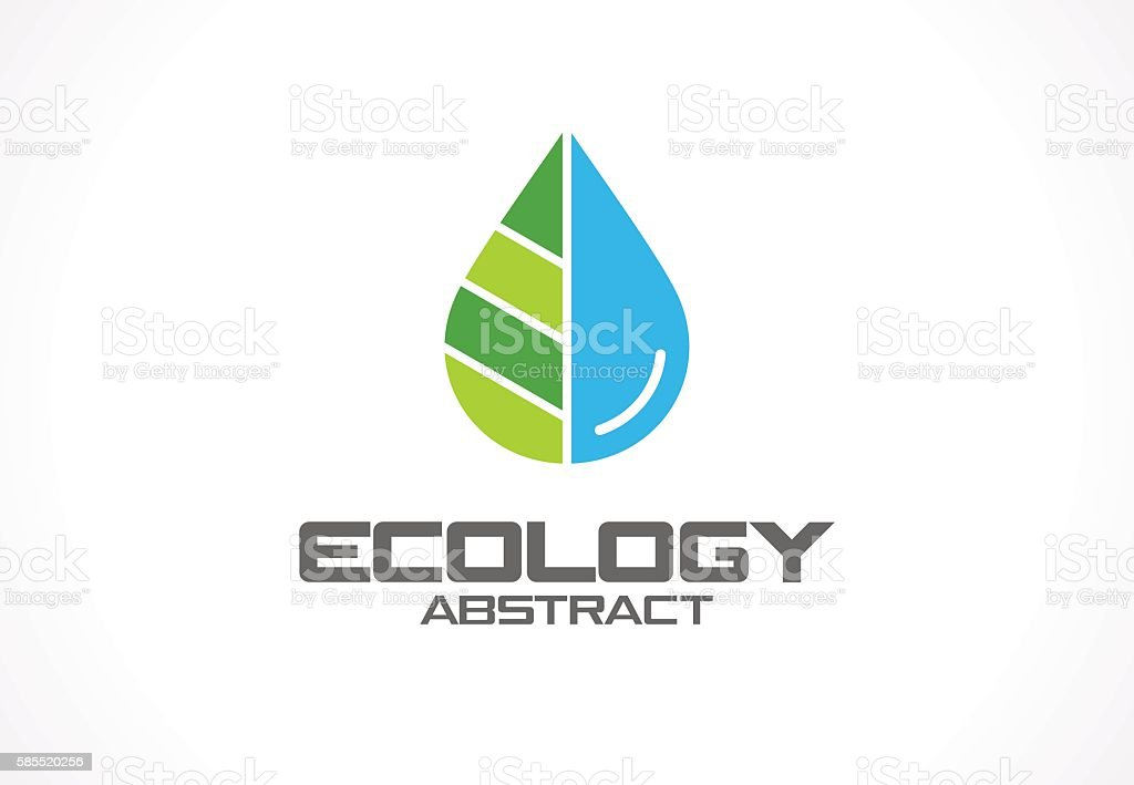 Abstract sign for business company. Eco nature, spa, aqua idea vector art illustration
