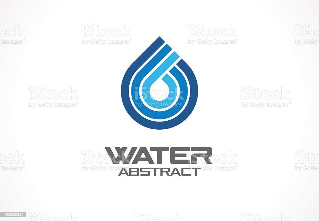 Abstract sign for business company. Eco ocean, nature, spa, aqua vector art illustration