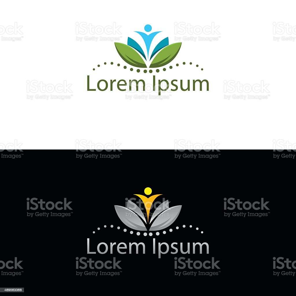 Abstract silhouette icon for use in healthcare industry vector art illustration
