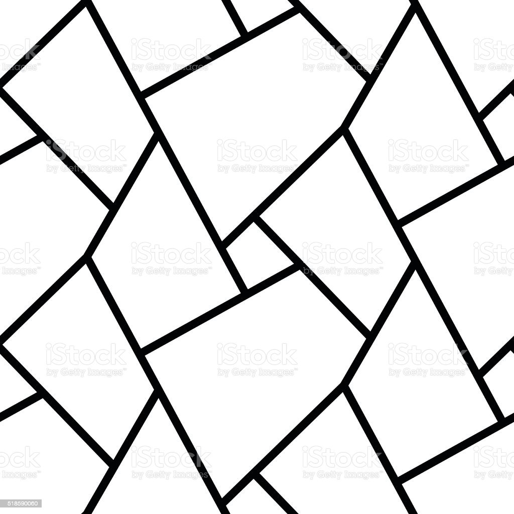 Abstract Line Art Design : Abstract simple geometric lines seamless pattern design