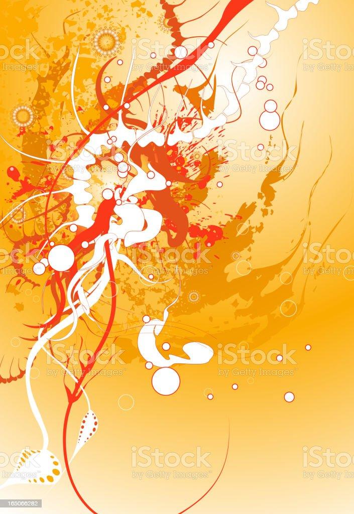 Abstract Skeleton vector art illustration