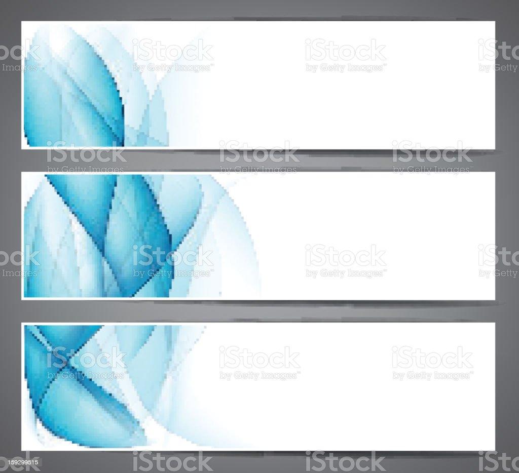 Abstract smoke blue headers. royalty-free stock vector art