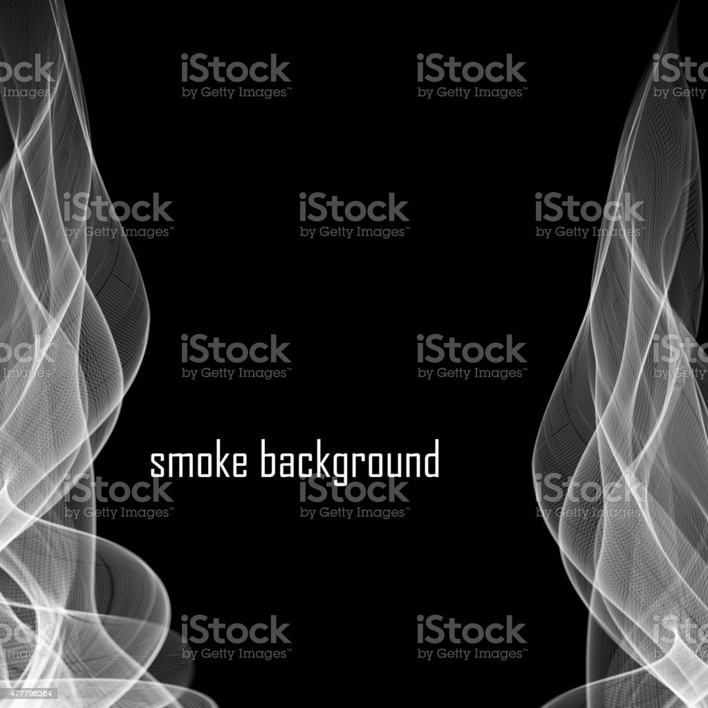 Abstract smoke isolated on black.  Vector illustration. Eps 10 vector art illustration