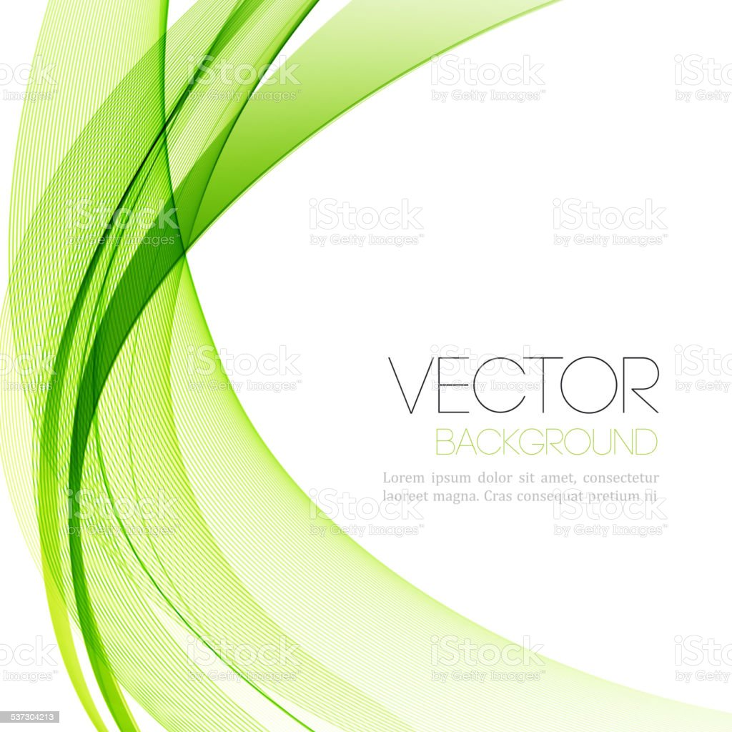 Abstract smoky waves  background. Template brochure design vector art illustration