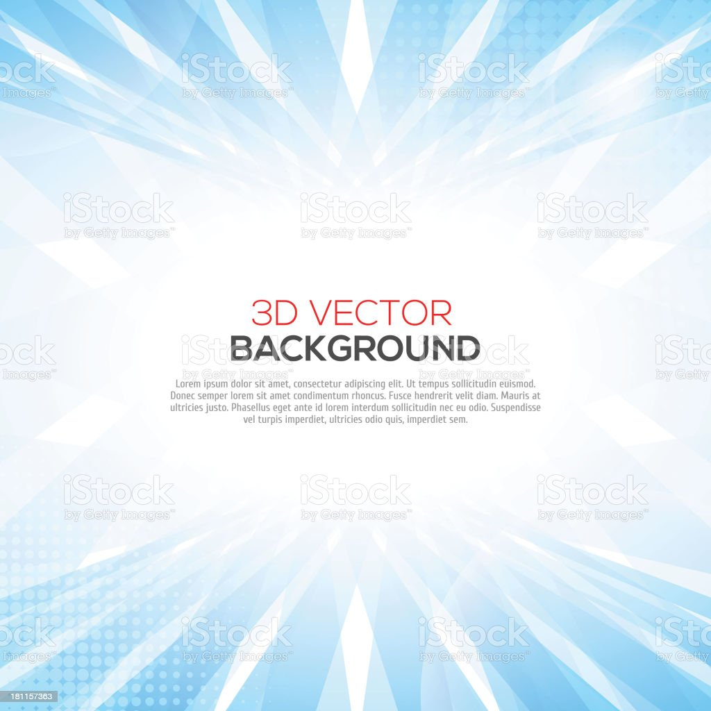Abstract smooth light blue perspective background. vector art illustration