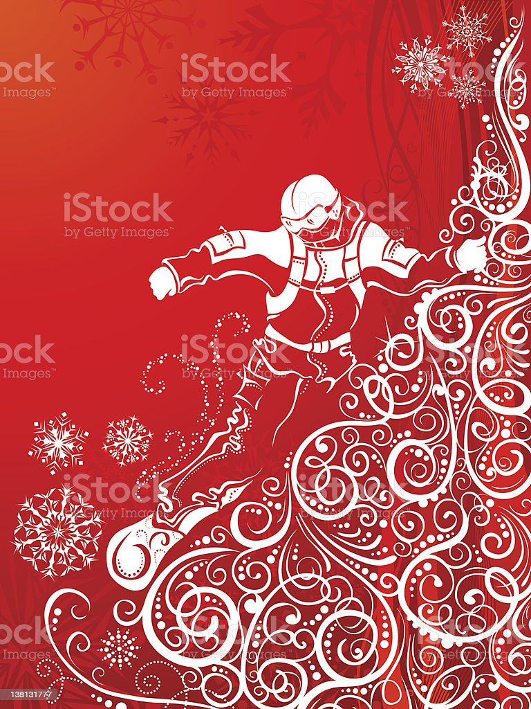 Abstract snowboarder royalty-free stock vector art
