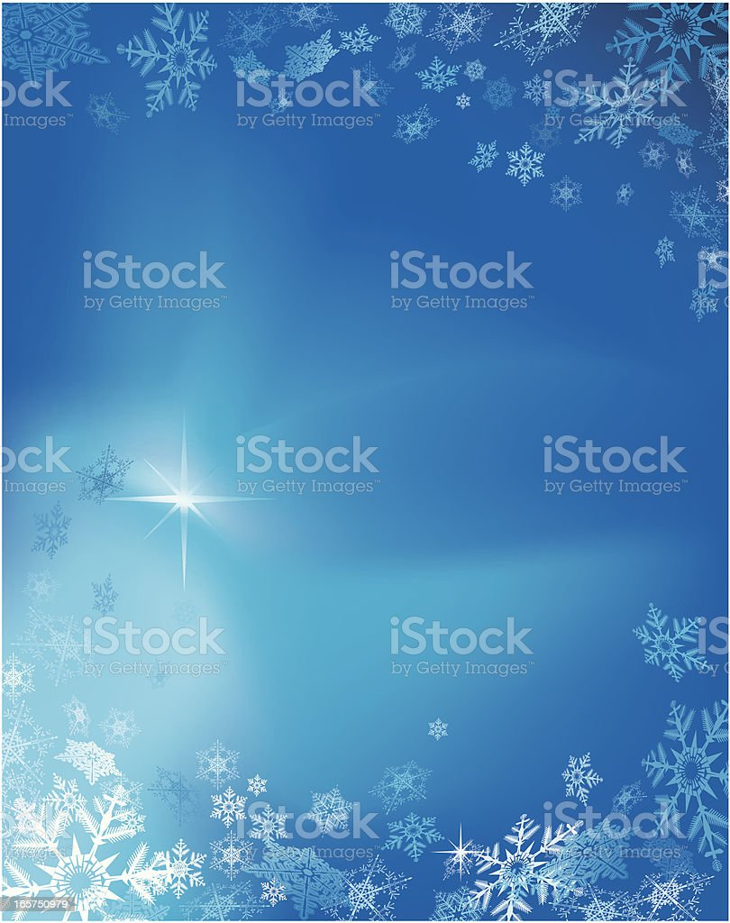 Abstract snowflake background royalty-free stock vector art