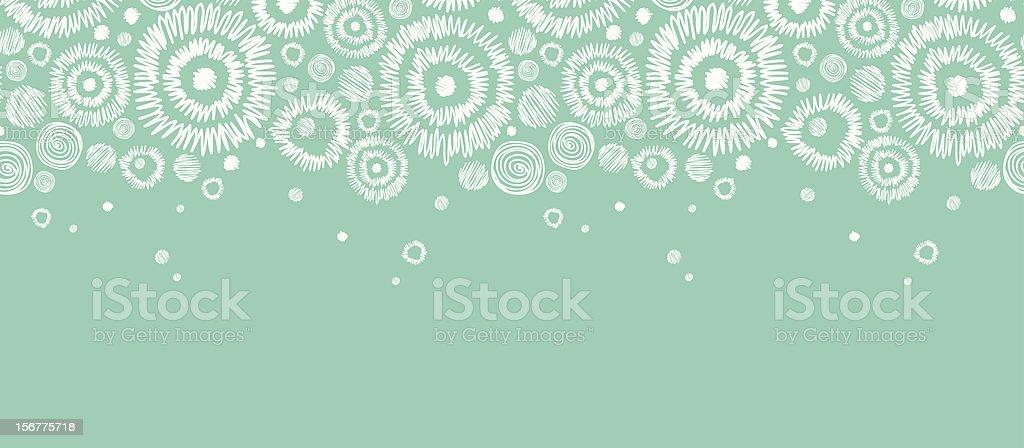 Abstract Snowflakes Horizontal Seamless Pattern Border royalty-free stock vector art