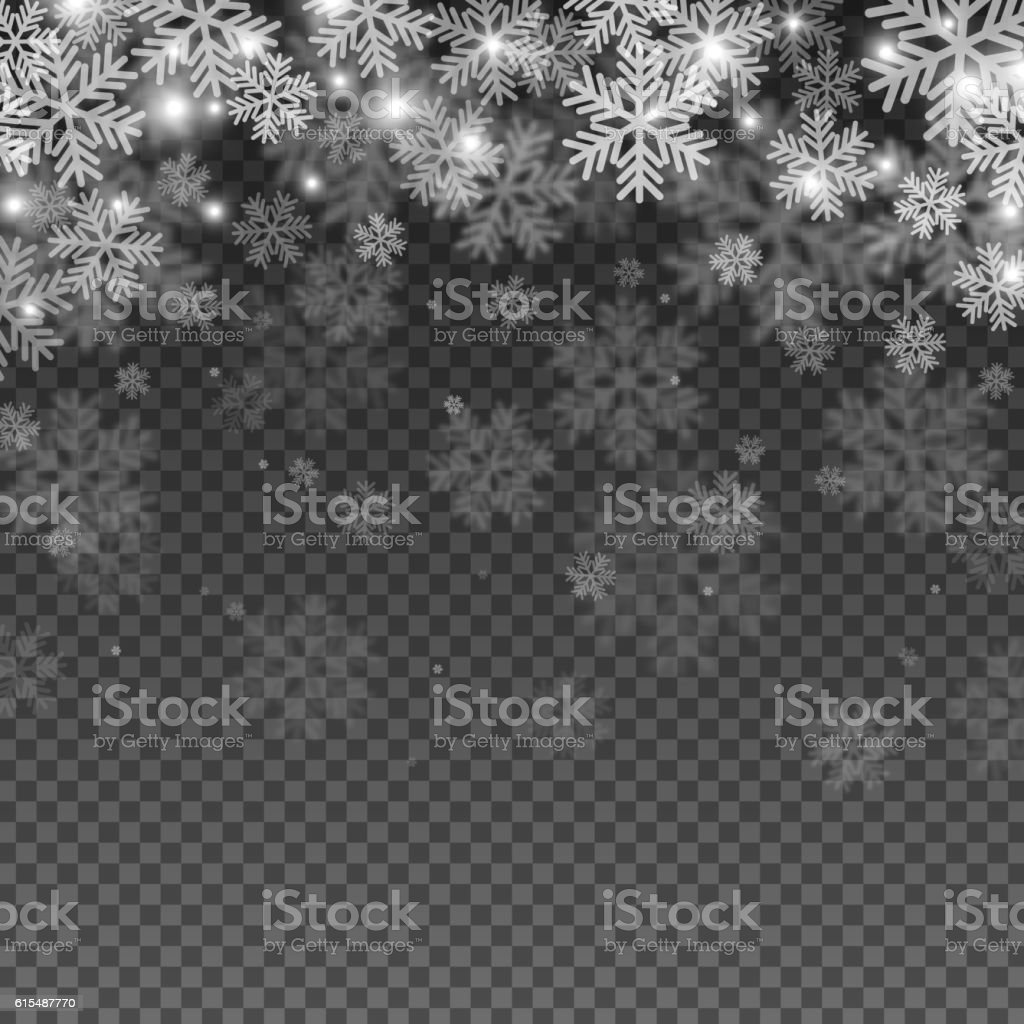 Abstract Snowflakes Overlay Effect vector art illustration