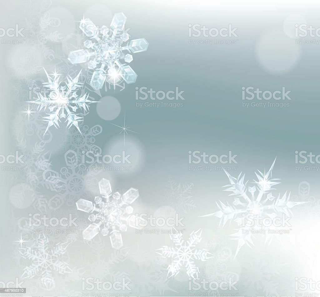 Abstract Snowflakes Snow Background vector art illustration