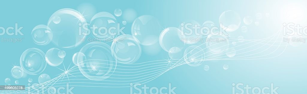 Abstract soap bubbles background. vector art illustration