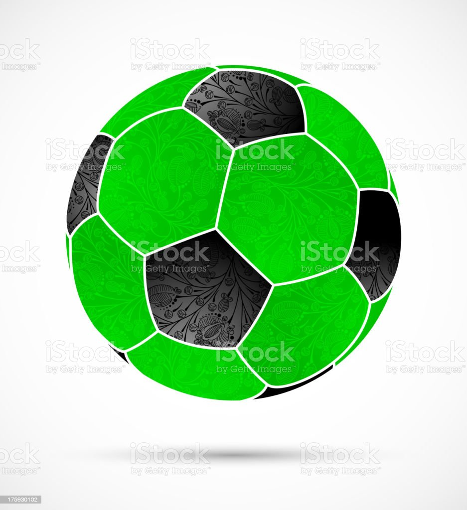 abstract soccer ball royalty-free stock vector art