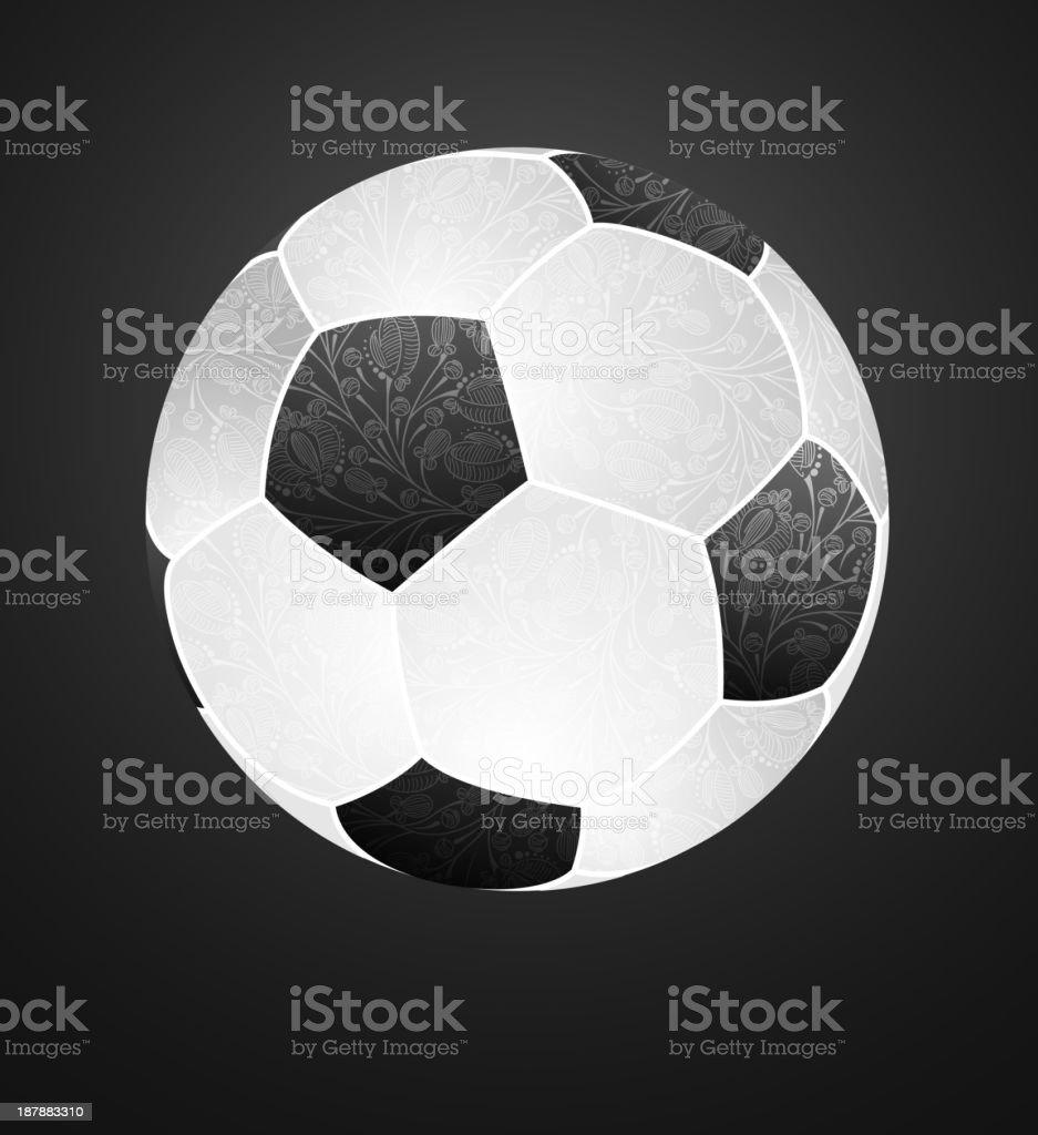 abstract soccer ball royalty-free stock vector art