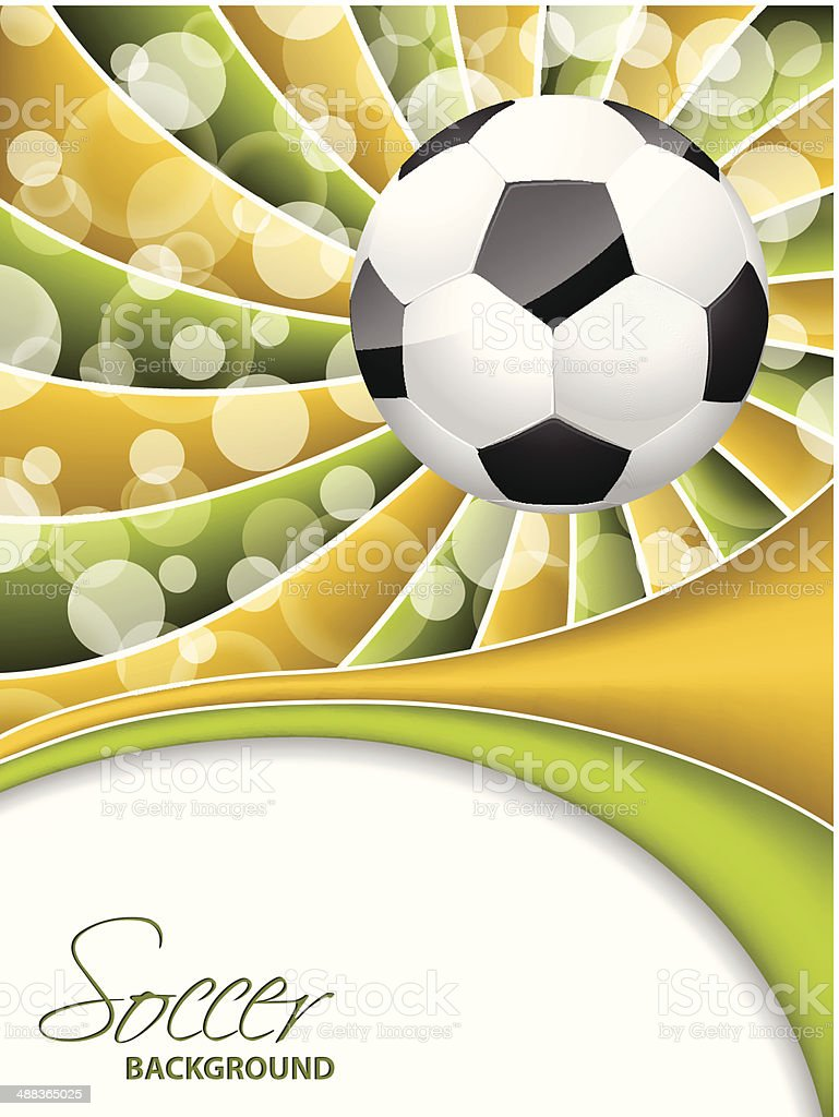 Abstract soccer wallpaper design royalty-free stock vector art