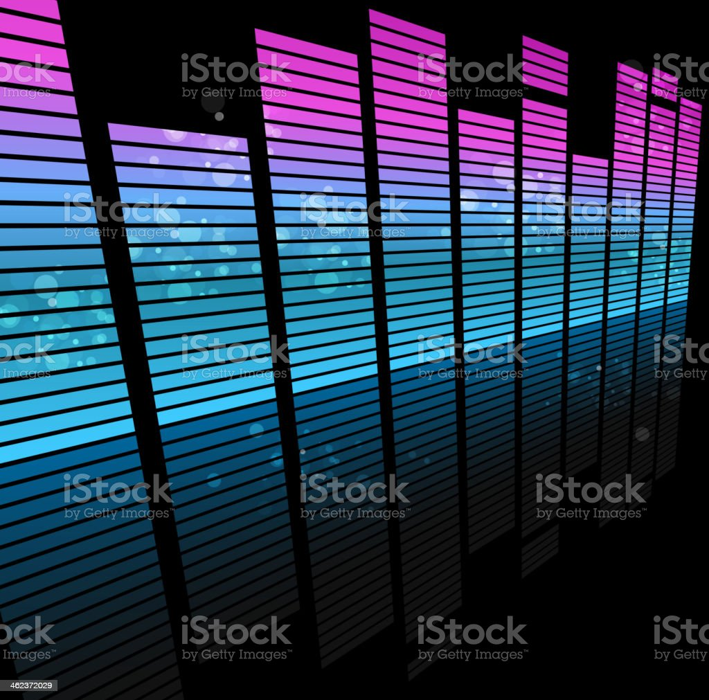 abstract sound wave technology background vector art illustration