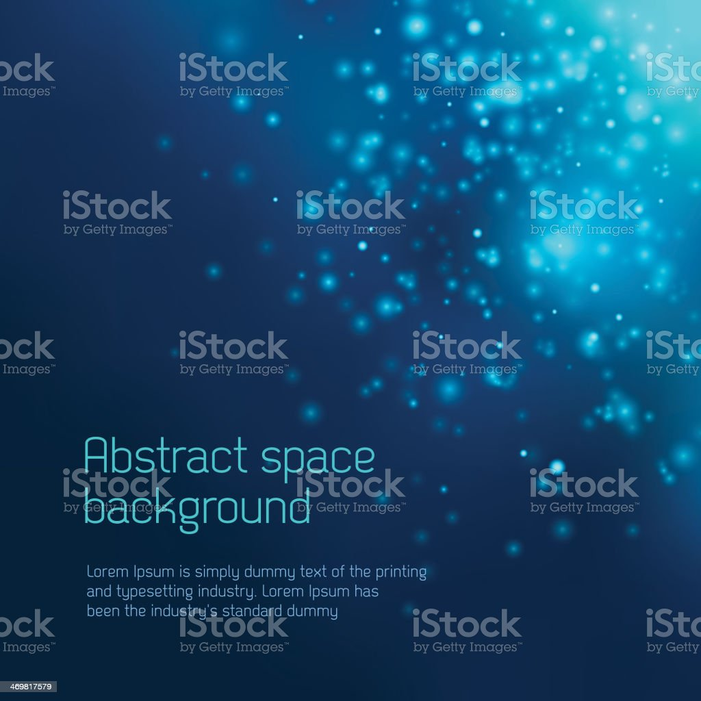 Abstract space background vector art illustration