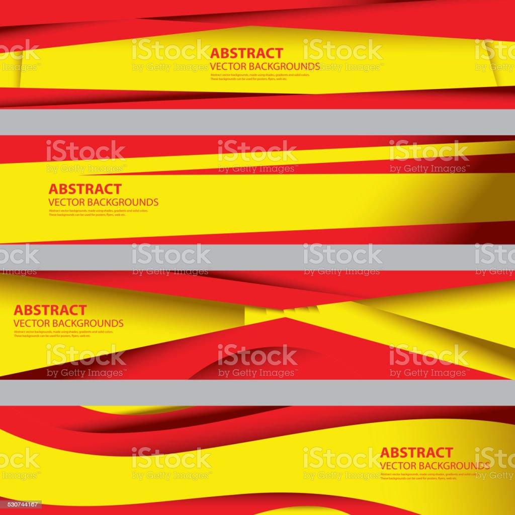 Abstract Spain Flag, Spanish National Colors (Vector Art) vector art illustration