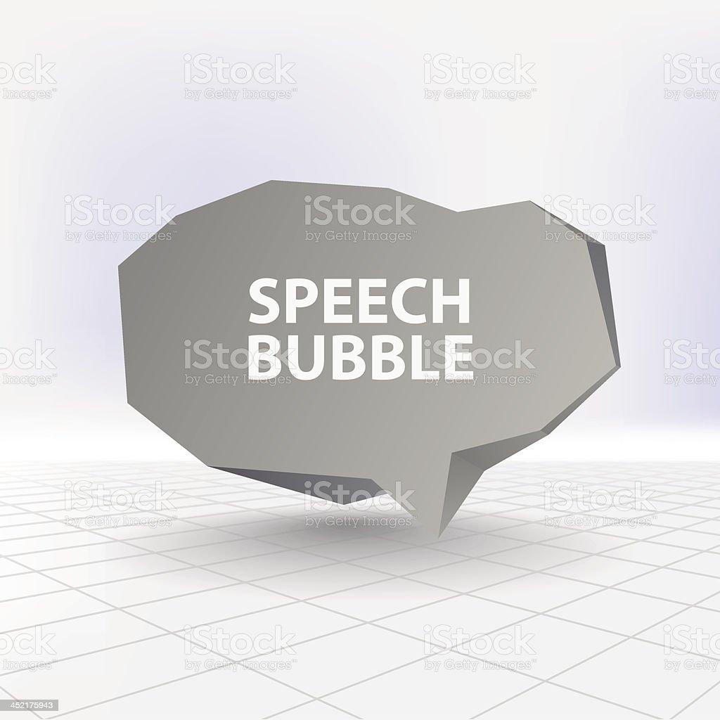 Abstract speech bubble royalty-free stock vector art