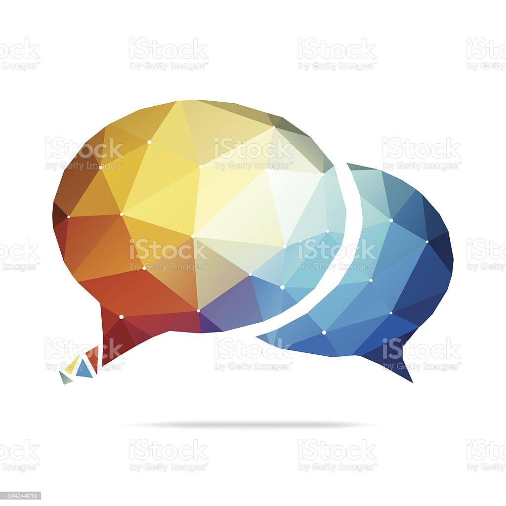 Abstract Speech Bubble vector art illustration